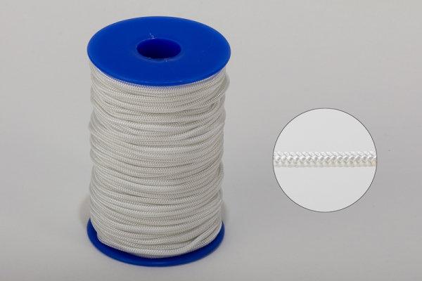 3 mm Nylon- Zugschnur - weiß - Meterware