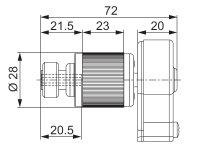 Restbestand - Schnurzuggetriebe 3,25:1 für 7 mm...