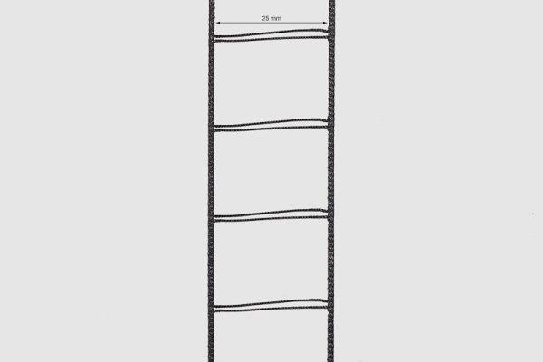 Leiterkordel für 25 mm Lamellen schwarz