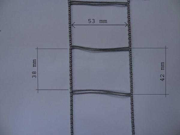 Leiterkordel für 50 mm Lamellen grau