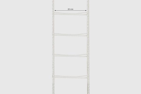 Leiterkordel für 25 mm Lamellen weiß