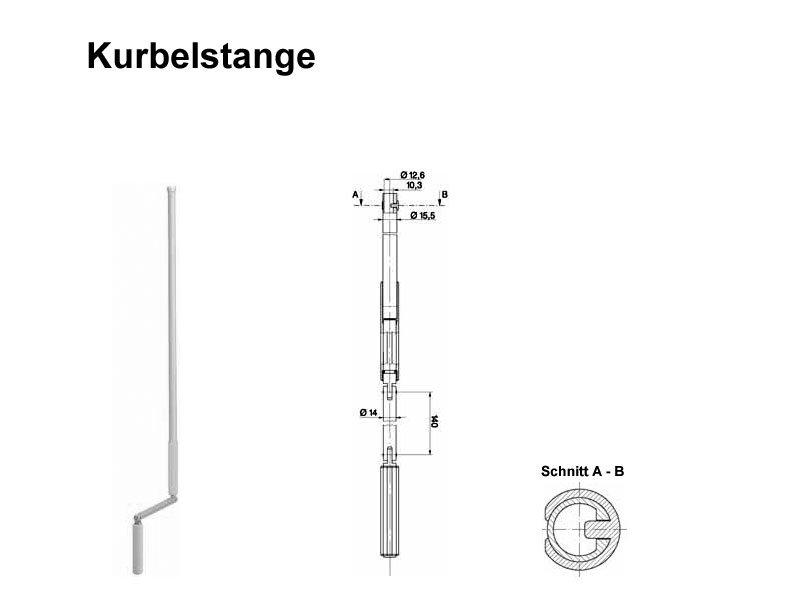 Kurbel Mit Steckverbindung Z B F R Sch Ko Rollladen Wei S