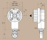 Markisen-Kegelradgetriebe 7,8:1