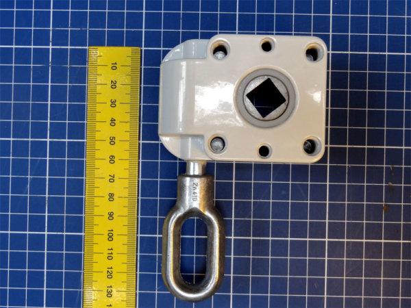 Schneckengetriebe 7:1, 38 mm, 13 mm Abtrieb