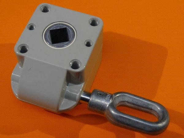 Schneckengetriebe 7:1, 55 mm, Zinkoese,  13 mm Abtrieb