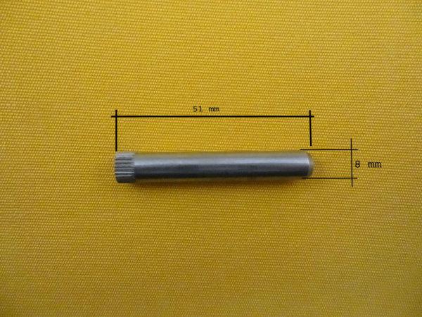 Rändelbolzen D8x51, Endkappe