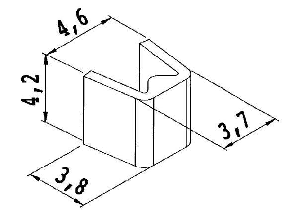 Kordelklammer Metall 4,2 mm glatt