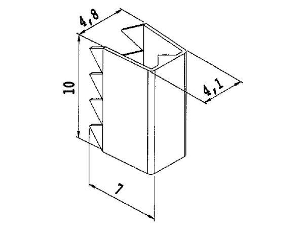 Kordelklammer Metall 10 mm mit Widerhaken