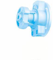 Kegelradgetriebe 3:1 für 50er Rundwelle, Antrieb: 6 mm 6-kant