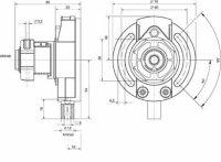 Kegelradgetriebe 3:1 für 50er Rundwelle, Antrieb: 6...