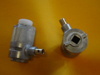 Jalousie-Kegelradgetriebe 3:1, 12 mm Vierkant