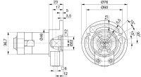 Kegelradgetriebe 3:1 für 40er Welle