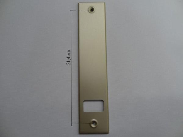 Deckplatte Alu Champagner eloxiert matt LA 21,4