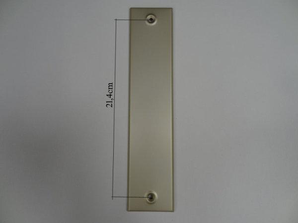 Deckplatte ohne Gurtmaul, Alu Champagner eloxiert matt LA 21,4