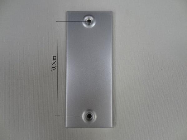 Deckplatte ohne Gurtmaul, Alu silber eloxiert matt LA 10,5
