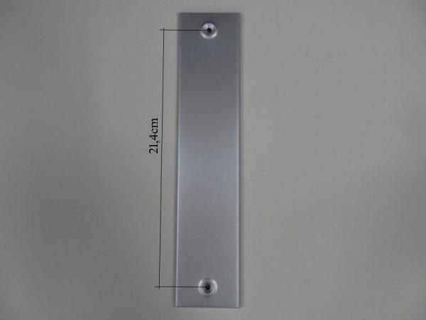 Deckplatte ohne Gurtmaul, Alu silber eloxiert matt LA 21,4 cm