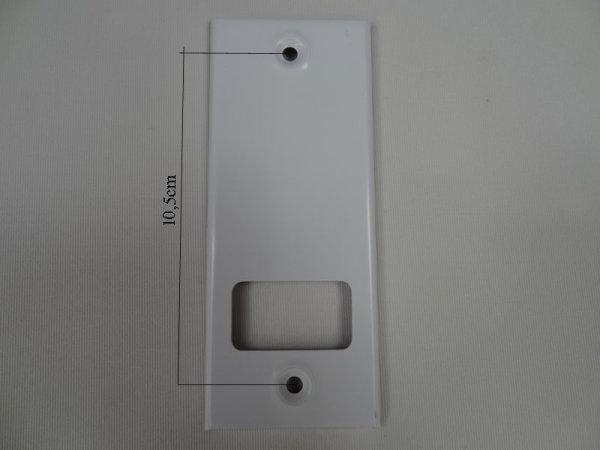 Deckplatte Alu weiß lackiert LA 10,5