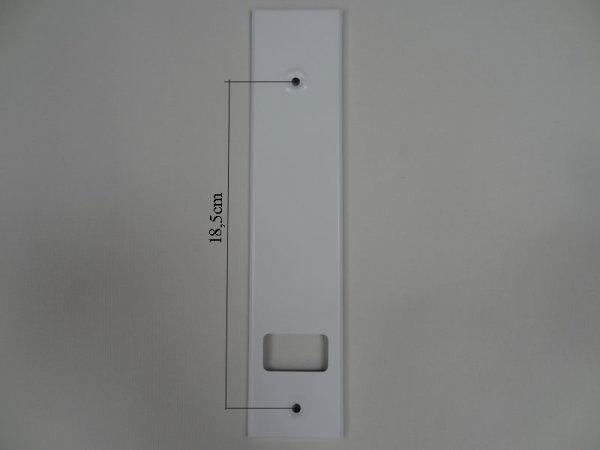 Deckplatte Alu weiß lackiert LA 18,5 cm