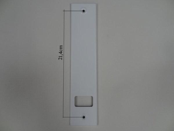 Deckplatte Alu weiß lackiert LA 21,4