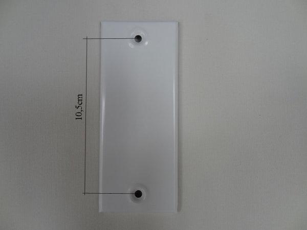 Deckplatte ohne Gurtmaul, Alu weiß lackiert LA 10,5