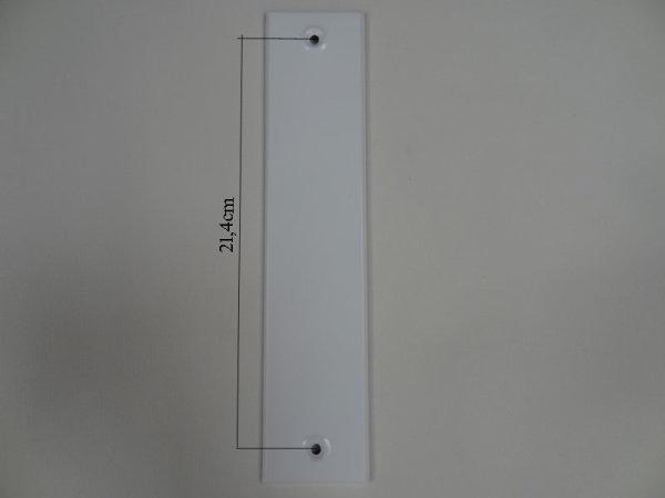 Deckplatte ohne Gurtmaul, Alu weiß lackiert LA 21,4