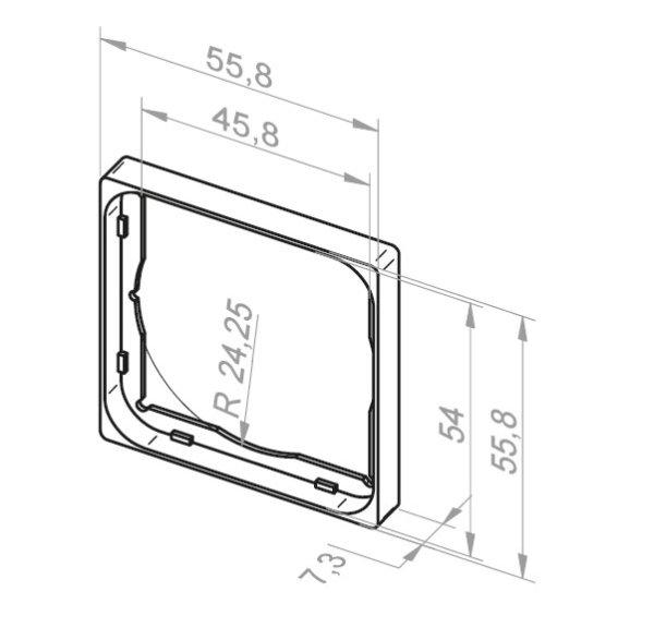 Adapterrahmen für Jung A500, Gira Event & System 55