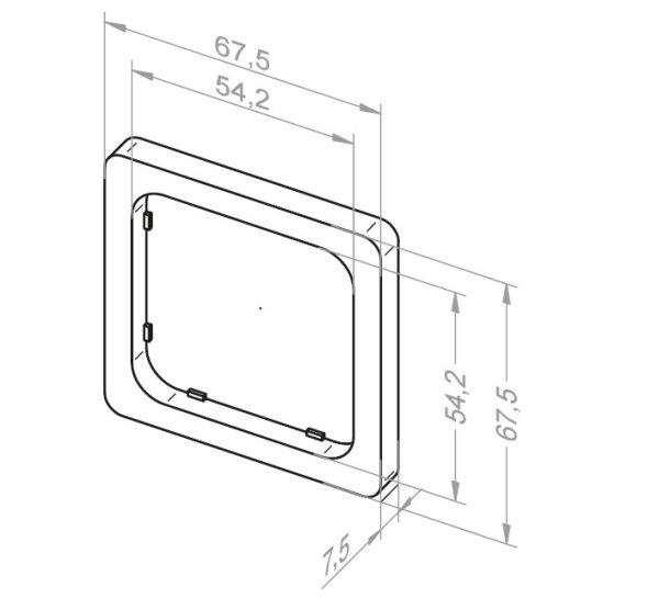 Adapterrahmen für Jung CD 500 und ST 550