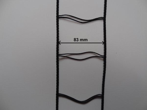 Verstärkte Leiterkordel für 80 mm Lamellen schwarz