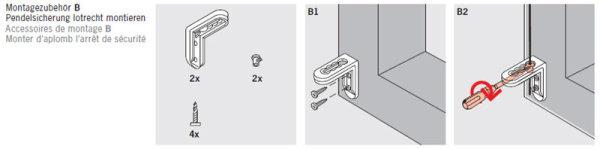 Winkel für Pendelsicherung - bis 2 mm Drahtstärke