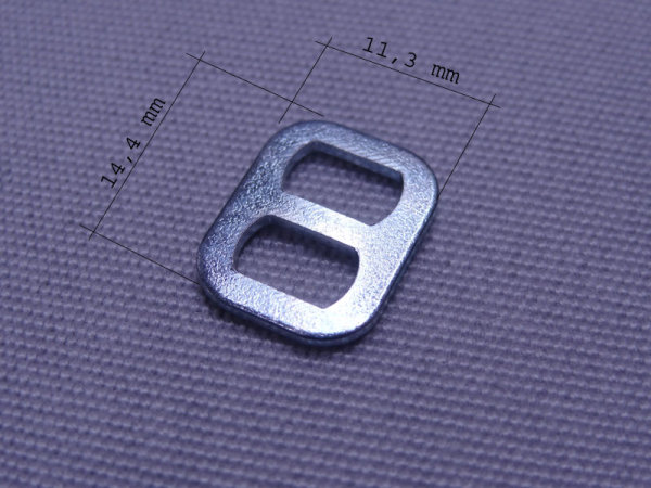 Kordelschnalle 15 x 12 mm