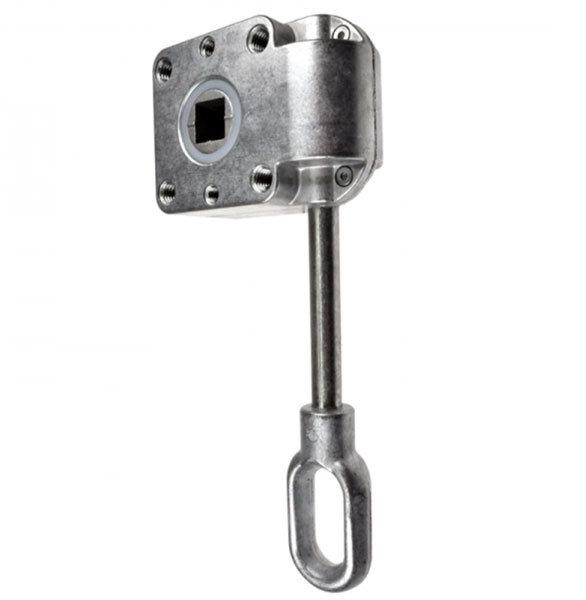 Schneckengetriebe 7:1, 38 mm, 13 mm Abtrieb, Antrieb lang