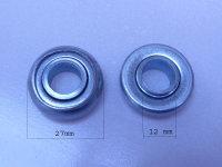 Mini-Kugellager mit Rand - Bohrung 12 mm