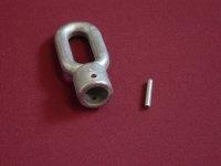 Markisenöse oval aus Zinkdruckguss Bohrung 16 mm