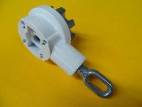 Markisen-Kegelradgetriebe 7,8:1, weiß mit ovaler...