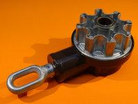 Markisen-Kegelradgetriebe 7,8:1, dunkelbraun mit ovaler...