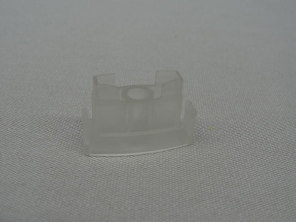 Endkappe 25 mm transparent