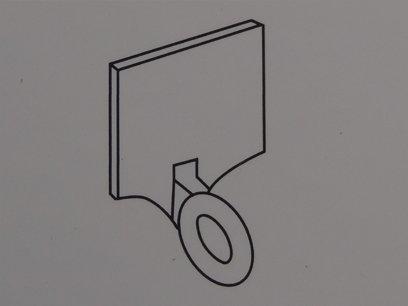 raffrollo f hrungsclip wei transparent jalousie ersatzt. Black Bedroom Furniture Sets. Home Design Ideas