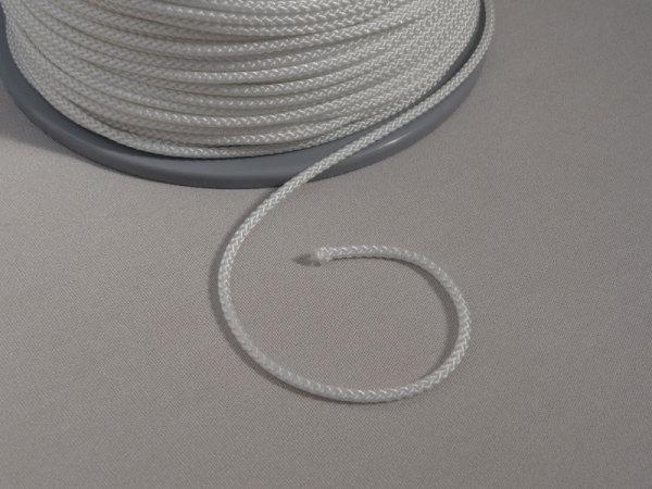 3,5 mm Nylon- Zugschnur - weiß - Meterware