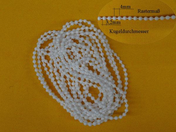 Bedienkette 3,2/4 endlos Umlauf 120 cm / Bedienlänge 60 cm weiß