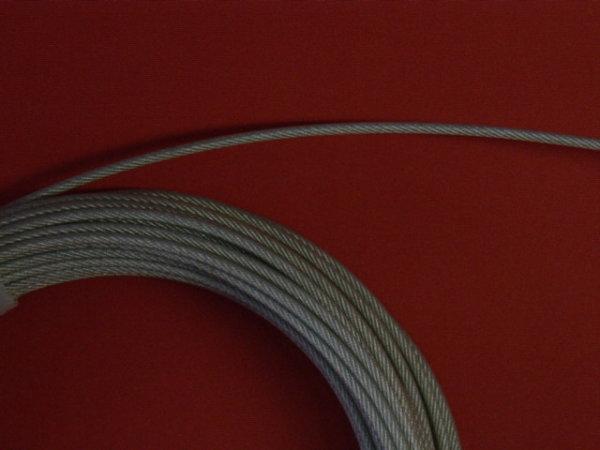 Edelstahl-Spanndraht 1,0 mm - Polyamid- ummantelt