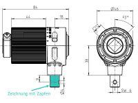Kegelradgetriebe Kunststoff 2:1