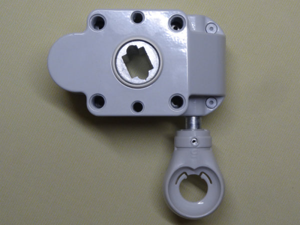 Schneckengetriebe 7:1, 55 mm, PVC-Öse abnehmbar, 13 mm Abtrieb