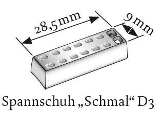 Spannschuhset schmal (z.B. Germania, Büscher, Flexalum)