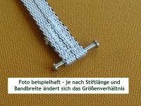 1 eingenähter Stahlstift 21 mm an bestellte Bänder