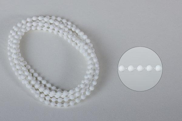 Restposten Bedienkette 4,5/5,9 Endloser Ring weiß Umlauf 500 cm / Bedienlänge 250 cm
