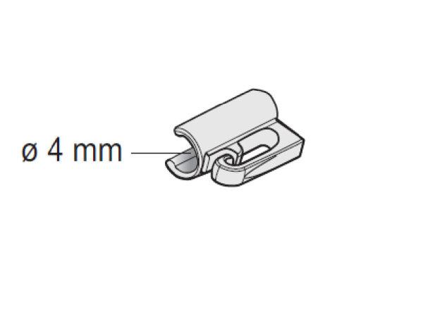 MHZ-Raffrollo-Clip für 4mm Rundstab
